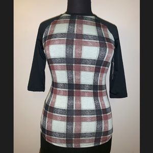 Lularoe Randy Shirt Plaid XS NWT